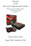 RetoDuo Video Game System GIveaway