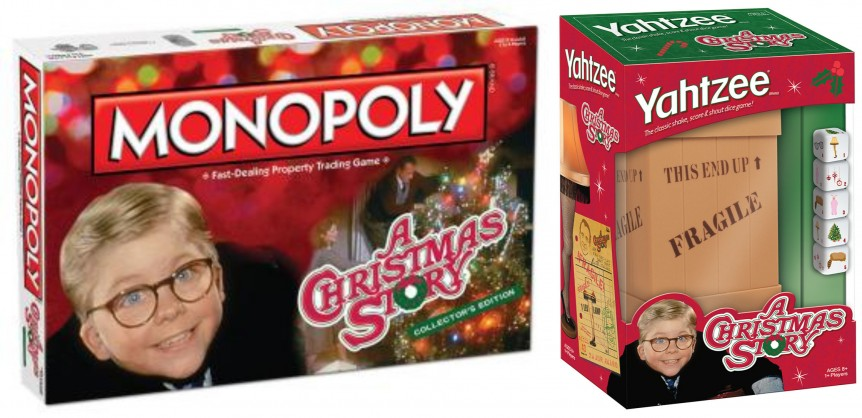 A Christmas Story Monopoly and Yahtzee