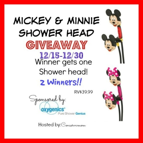 Mickey Mouse Shower Head Giveaway