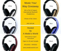 Win a pair of August Bluetooth Headphones - Ends 9/4 Also check out the review A Medic's World did as well. August Bluetooth Headphones received a 9.7 overall.